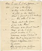 """view Dinner List:  """"Dîner des amis de l'art Japonais""""  Guest list and addresses for a dinner, guests include Claude Monet. digital asset: Dinner List:  """"Dîner des amis de l'art Japonais""""  Guest list and addresses for a dinner, guests include Claude Monet."""