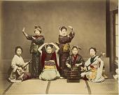 view [Six women playing music and dancing] digital asset: [Six women playing music and dancing]