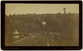 "view Untitled. ""Madame Carlotta's"" balloon ascension at Congress Park, Saratoga Springs, New York digital asset: Untitled. ""Madame Carlotta's"" balloon ascension at Congress Park, Saratoga Springs, New York"