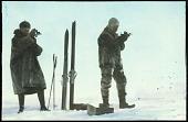 view Slide 11: Roald Amundsen with unidentified man digital asset: Slide 11: Roald Amundsen with unidentified man