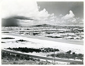 """view Boeing B-29 Superfortress, Silverplate """"Enola Gay"""" and Radio Press News Collection digital asset: Photograph of North Field at Tinian"""