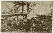 view 33 photographic postcards of early aircraft and aviators at the Harvard-Boston Aero Meet digital asset: 33 photographic postcards of early aircraft and aviators at the Harvard-Boston Aero Meet