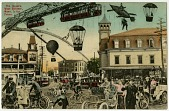 view 9 postcards featuring balloons, airships, and aircraft digital asset: 9 postcards featuring balloons, airships, and aircraft