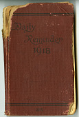 view Daily Reminder 1918 (Diary 2) digital asset: Daily Reminder 1918 (Diary 2)
