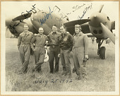 view [Page 69] Group photograph with Lockheed P-38 Lightning digital asset: [Page 69] Group photograph with Lockheed P-38 Lightning