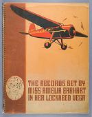 view Amelia Earhart Scrapbook digital asset: NASM 9A18458, Scrapbook