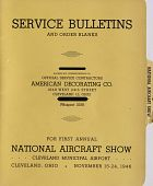 "view American Decorating Company (Cleveland, Ohio), ""Service Bulletins and Order Blanks for First Annual National Aircraft Show, November 15-24, 1946."" digital asset: American Decorating Company (Cleveland, Ohio), ""Service Bulletins and Order Blanks for First Annual National Aircraft Show, November 15-24, 1946."""
