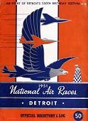 view 1951 National Air Races (Detroit), Official Directory and Log digital asset: 1951 National Air Races (Detroit), Official Directory and Log