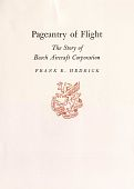 """view Booklet, Frank E. Hedrick, """"Pagentry of Flight: The Story of Beech Aircraft Corporation"""" digital asset: Booklet, Frank E. Hedrick, """"Pagentry of Flight: The Story of Beech Aircraft Corporation"""""""
