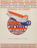 view 1933 National Air Races (Los Angeles), Schedule of Events digital asset: 1933 National Air Races Schedule of Events