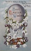 """view """"Best Easter Wishes."""" Rabbit up in an egg-shaped balloon digital asset: """"Best Easter Wishes."""" Rabbit up in an egg-shaped balloon"""