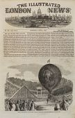 """view """"Ascent of Mr. Hampton's ERIN-GO-BRAGH Balloon, at Batty's Roya Hippodrome, Kensington."""" With article digital asset: """"Ascent of Mr. Hampton's ERIN-GO-BRAGH Balloon, at Batty's Roya Hippodrome, Kensington."""" With article"""