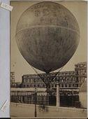 "view ""Exhibition Universelle, 1878."" Giant captive balloon created by Henri Giffard digital asset: ""Exhibition Universelle, 1878."" Giant captive balloon created by Henri Giffard"