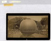 "view Untitled. Ascension of a large gas balloon. ""Skies"" printed on envelope. American digital asset: Untitled. Ascension of a large gas balloon. ""Skies"" printed on envelope. American"