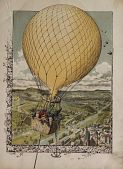 view Untitled. Small crowd of children up in a gas balloon digital asset: Untitled. Small crowd of children up in a gas balloon