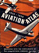 view 1935-1936 Aviation Atlas presented by Gulf Refining Company digital asset: 1935-1936 Aviation Atlas presented by Gulf Refining Company