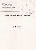 """view Manuscripts, """"A United States Supersonic Transport"""" (Speech) C. R. Smith (American Airlines) digital asset: Manuscripts, """"A U. S. Supersonic Transport"""" (Speech) C. R. Smith"""