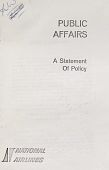 """view Documents, """"Public Affairs"""" [policies from other US airlines and documents relating to the Air Traffic Conference of America] digital asset: Documents, """"Public Affairs"""" [policies from other US airlines and documents relating to the Air Traffic Conference of America]"""