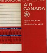 """view Air Canada [Timetable], """"North American Services, April 24 - July 31, 1966"""" digital asset: Air Canada [Timetable], """"North American Services, April 24 - July 31, 1966"""""""