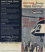"""view New York Airways [Timetable],"""" New York Airways, Spring Schedule February 17 - April 21, 1964: The Skyline Route"""" digital asset: New York Airways [Timetable],"""" New York Airways, Spring Schedule February 17 - April 21, 1964: The Skyline Route"""""""
