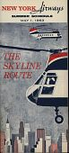 """view New York Airways [Timetable],"""" New York Airways, Summer Schedule May 1, 1963: The Skyline Route"""" [2nd copy] digital asset: New York Airways [Timetable],"""" New York Airways, Summer Schedule May 1, 1963: The Skyline Route"""" [2nd copy]"""