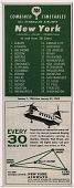 """view """"Combined Timetables, All Scheduled Airlines, New York to and from […]"""" digital asset: """"Combined Timetables, All Scheduled Airlines, New York to and from […]"""""""