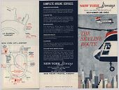 """view New York Airways [Timetable],"""" New York Airways, Fall and Winter Schedule effective October 28, 1962: The Skyline Route"""" digital asset: New York Airways [Timetable],"""" New York Airways, Fall and Winter Schedule effective October 28, 1962: The Skyline Route"""""""