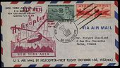 view New York Airways, First Flight Cover and Advertising Card digital asset: New York Airways, First Flight Cover and Advertising Card