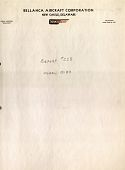 view Report 223 Balance Schedules, VF Airplane, Low Wing, Bellanca Model 22-80, October 30, 1935 digital asset: Report 223 Balance Schedules, VF Airplane, Low Wing, Bellanca Model 22-80, October 30, 1935