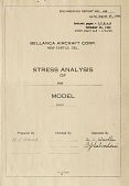 view Report 452 Stress Analysis of Wing, Model 14-13, August 27, 1945 - January 14, 1946 [Two Copies] digital asset: Report 452 Stress Analysis of Wing, Model 14-13, August 27, 1945 -- January 14, 1946 [Two Copies]