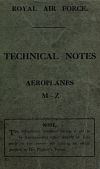 "view ""Technical Notes, Aeroplanes M-Z"", Royal Air Force digital asset: ""Technical Notes, Aeroplanes M-Z"", Royal Air Force"