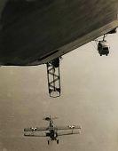 view USS Los Angeles (ZR-3) - N2Y-1 hook-on trials digital asset: USS Los Angeles (ZR-3) - N2Y-1 hook-on trials