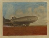view K Type airship, hand-colored photograph digital asset: K Type airship, hand-colored photograph