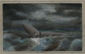 "view ""Miss Akron"" [wreck of USS Akron], unknown artist. Pastel digital asset: ""Miss Akron"" [wreck of USS Akron], unknown artist. Pastel"