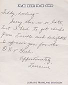 "view Cecil ""Teddy"" Kenyon - Correspondence digital asset: Cecil ""Teddy"" Kenyon - Correspondence"