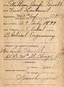 view American Expeditionary Forces (AEF) Officer's Record Book digital asset: American Expeditionary Forces (AEF) Officer's Record Book