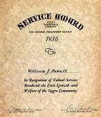 view Service Award, Los Angeles Fellowship League digital asset: Service Award, Los Angeles Fellowship League