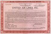 view United Airlines Stock Certificate digital asset: United Airlines Stock Certificate