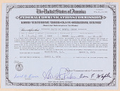 view Certificate, Ham radio operator permit, Federal Communications Commission digital asset: Certificate, Ham radio operator permit, Federal Communications Commission
