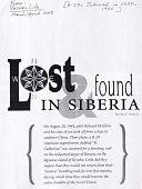 view Lost & Found in Siberia digital asset: Lost & Found in Siberia