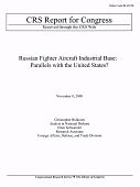 view Russian Fighter Aircraft Industrial Base: Parallels with the United States? digital asset: Russian Fighter Aircraft Industrial Base: Parallels with the United States?