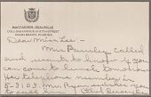 view Correspondence through 1938 digital asset: Correspondence through 1938