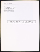 view Report to the President by the Presidential Commission on the Space Shuttle Challenger Accident, Report at a Glance digital asset: Report to the President by the Presidential Commission on the Space Shuttle Challenger Accident, Report at a Glance