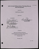 view STS-76 Earth Observations Training Manual [KidSat], (folder 2 of 2) digital asset: STS-76 Earth Observations Training Manual [KidSat], (folder 2 of 2)