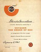 view Membership Certificate, Voyager, Order of 880 digital asset: Membership Certificate, Voyager, Order of 880