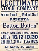 "view Theater Placard and Program for ""Button, Button"" with Roberta digital asset: Theater Placard and Program for ""Button, Button"" with Roberta"