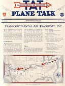 "view Transcontinental Air Transport, ""Plane Talk"" digital asset: Transcontinental Air Transport, ""Plane Talk"""