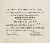 view Diploma from United States Military Academy, Class of 1909, dated October 12, 1937 digital asset: Diploma from United States Military Academy, Class of 1909, dated October 12, 1937