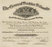 view Diploma from the Command and General Staff School, Fort Leavenworth, Kansas digital asset: Diploma from the Command and General Staff School, Fort Leavenworth, Kansas