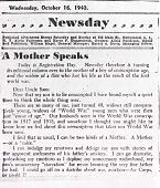 """view Writings: """"A Mother Speaks"""", Newsday digital asset: Writings: """"A Mother Speaks"""", Newsday"""